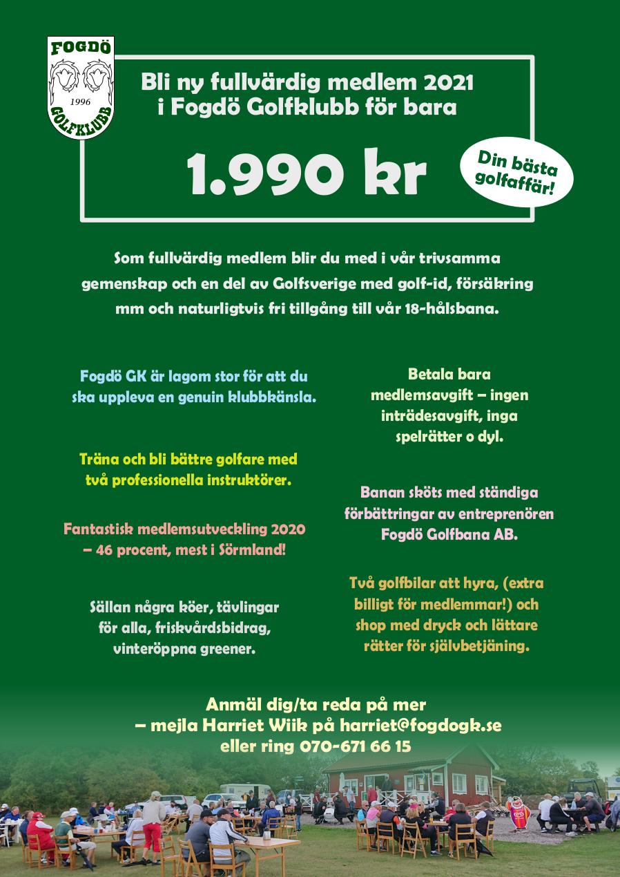 Medlemserbjudande 2021 1990kr
